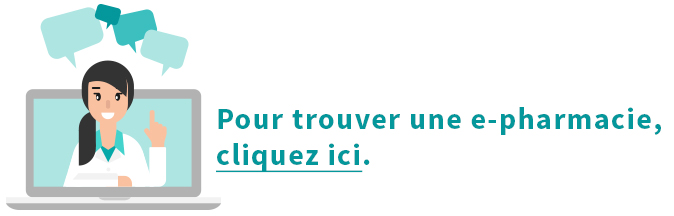 Trouver une e-pharmacie ici
